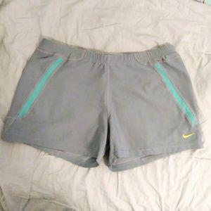 Nike Fit Dry Grey and Aqua Athletic Shorts